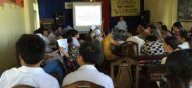 Tập huấn kiểm soát nhiễm khuẩn tại Trung tâm Y tế Quế Sơn
